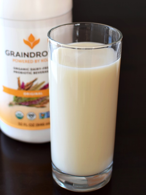 GrainDrops Organic Dairy-Free Probiotic Beverage - vegan, triple cultured, powered by koji made with biodynamic rice