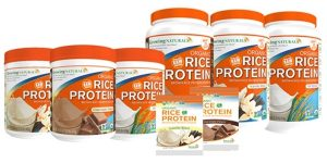 Growing Naturals Organic Brown Rice Protein Powders: Made with Raw Whole Grain Brown Rice (dairy-free, gluten-free, soy-free, vegan)