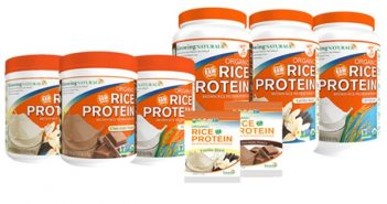 Growing Naturals Organic Rice Protein Powders: Made with Raw Whole Grain Brown Rice (dairy-free, gluten-free, soy-free, vegan)