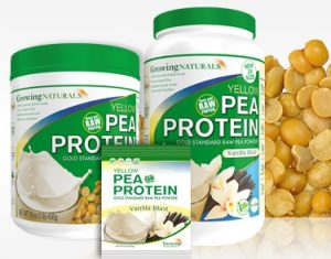 Growing Naturals Raw Pea Protein Powders (Dairy-Free, Gluten-Free, Soy-Free, Vegan)
