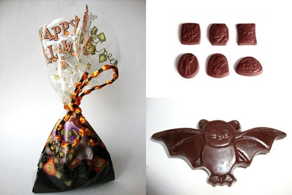 Big List of Dairy-Free Halloween Treats (Pictured: No Cow No How Chocolate Bats and Treat Bags)