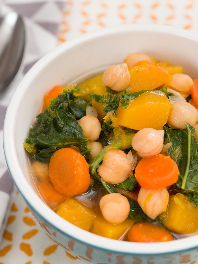 Hearty Autumn Vegetable and Chickpea Soup Recipe - a super-easy pantry recipe filled with nutrition and naturally vegan, gluten-free and allergy-friendly!
