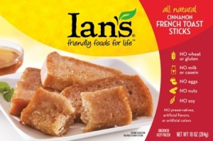 Ian's Frozen Breakfast Foods (Review): Allergy-Friendly Pancrepes and French Toast Stics - #dairyfree + glutenfree