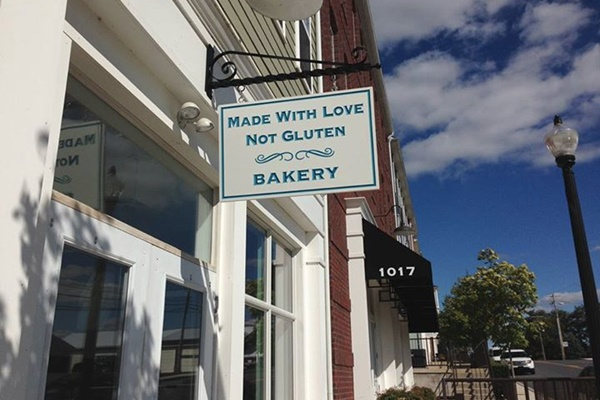 Made with Love, Not Gluten Bakery - vegan, dairy-free, and soy-free options available