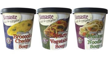 Namaste Foods Soup Cups - Non-Dairy Broccoli Cheddar, Non-Meat Chicken Noodle and Hearty Vegetable (all gluten-free and free of top allergens)