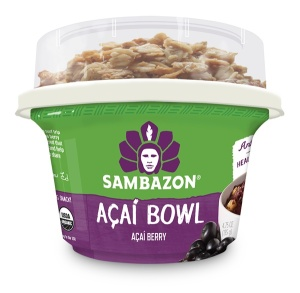 Sambazon Acai Bowls - #dairyfree + vegan acai sorbet with Nature's Path granola - certified organic