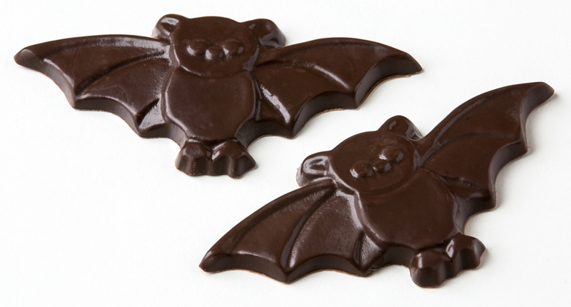 The Cutest + Tastiest Dairy-Free and Vegan Halloween Treats (Pictured - Chocolate Bats from No Cow)