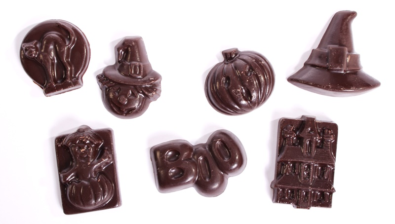 The Cutest + Tastiest Dairy-Free and Vegan Halloween Treats (Pictured - Chocolate Decadence Halloween Shapes)