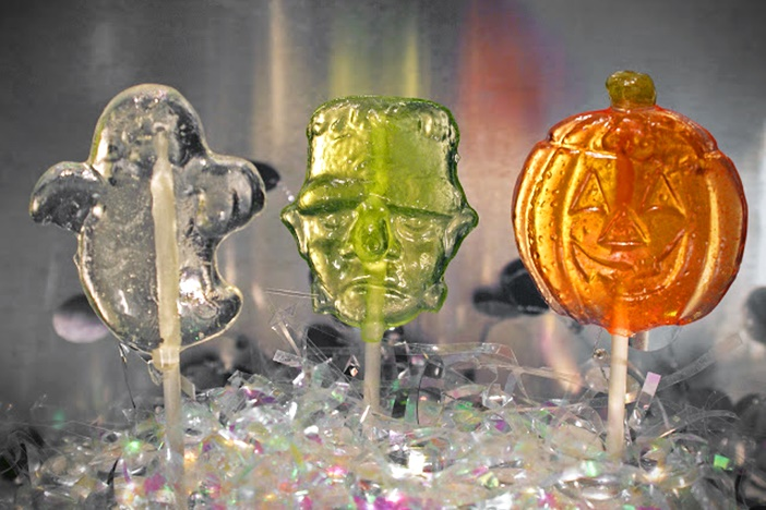 The Cutest + Tastiest Dairy-Free and Vegan Halloween Treats (Pictured - Lollipops from Indie Candy)