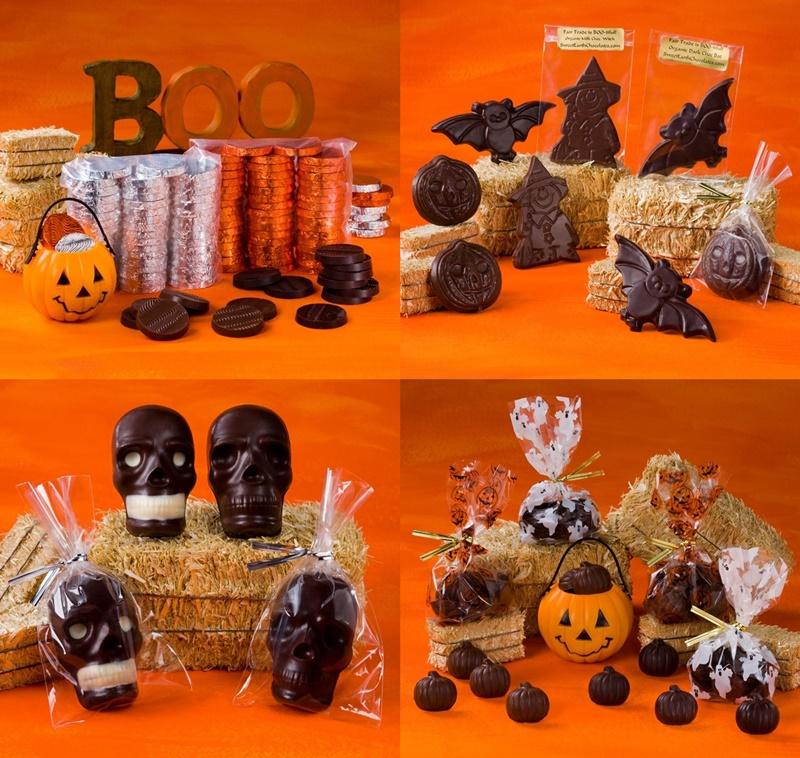 The Cutest + Tastiest Dairy-Free and Vegan Halloween Treats (Pictured - Mama Ganache Vegan Halloween Chocolates)
