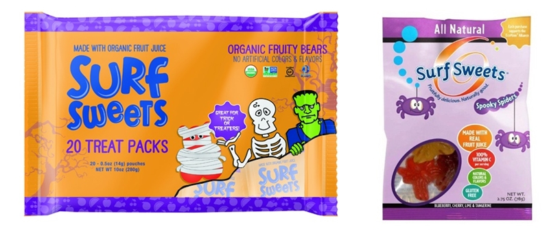 The Cutest + Tastiest Dairy-Free and Vegan Halloween Treats (Pictured - Surf Sweets Halloween Selections)