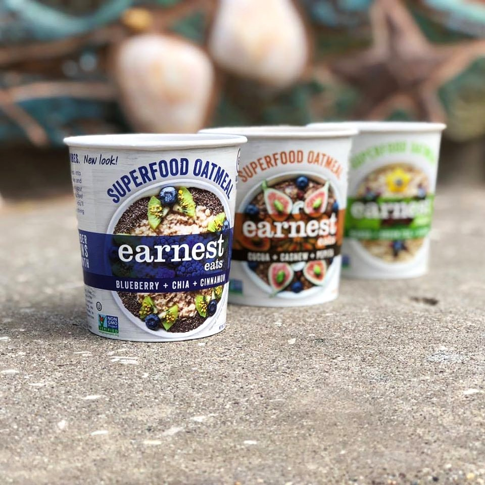 Earnest Eats Superfood Oatmeal Reviews and Info - Vegan and Gluten-Free - comes in single-serve cups and multi-serve bags. Pictured: Multi