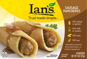 Ian's Frozen Breakfast Foods: The Last of the Allergy-Friendly Pancrepes: Sausage Pancrepes