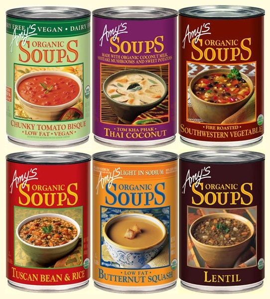 Amy's Organic Soups: Dairy-Free and Vegan Varieties