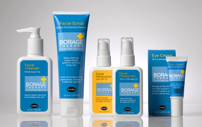 Best Natural Skin Care Products for Senstive Skin: Borage Therapy Facial Care by Shikai