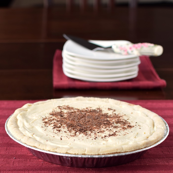 Chocolate Peppermint Layer Pie with Gluten-Free Wholly Wholesome Crust and Dairy-Free Mori-Nu Pudding Mixes