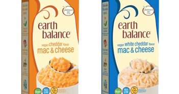 Earth Balance Vegan Mac and Cheese - dairy-free Cheddar and White Cheddar flavors