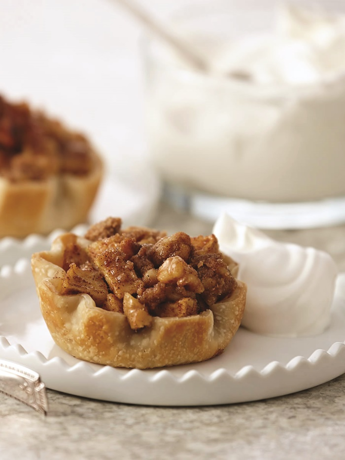 Easy Mini Apple Pies with Dairy-Free Vanilla Whip (vegan, soy-free, nut-free, optionally gluten-free)