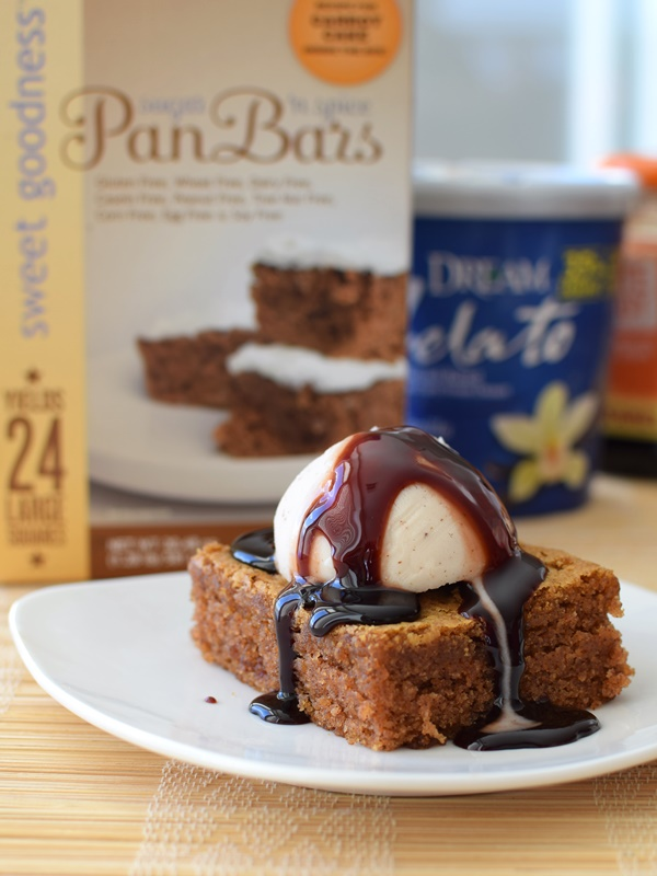 1-2-3 Gluten Free Baking Mixes - Dairy-Free Sugar 'n Spice Pan Bars (pumpkin recipe)