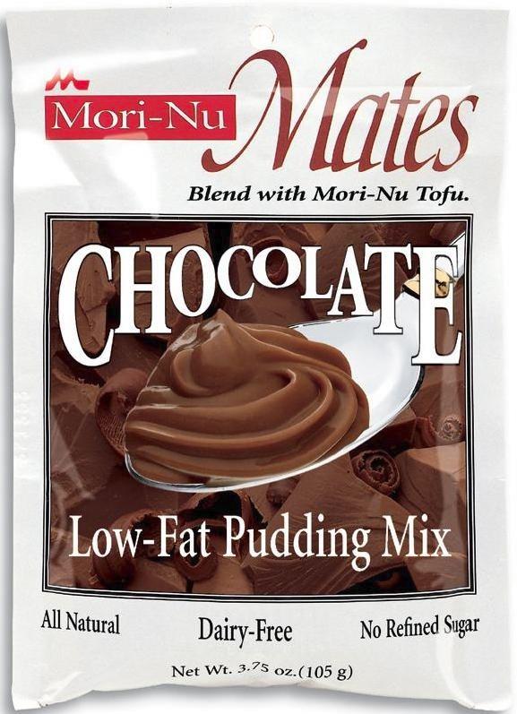Mori-nu Mates Pudding Mixes: Dairy-Free, Vegan, Low Fat Chocolate