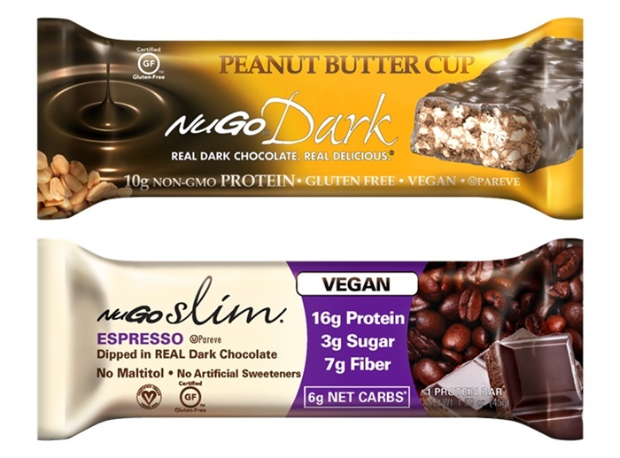 NuGo Nutrition Bars - Dark and Slim (Dairy-Free and Vegan Varieties)