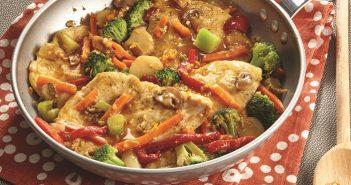 Pan-Sautéed Orange Chicken with Broccoli