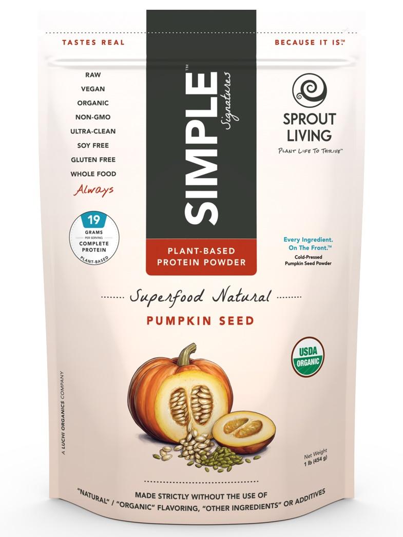 Sprout Living Pumpkin Seed Protein Powder - Organic, Raw, Dairy-Free, Gluten-Free, Vegan