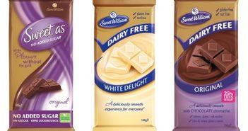 Sweet William Chocolate - Dairy-Free, Dark, Milk and White Chocolate Bars from Australia