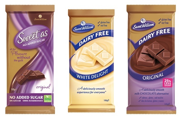 Sweet William Chocolate - Dairy-Free, Dark, Milk and White Chocolate Bars from Australia