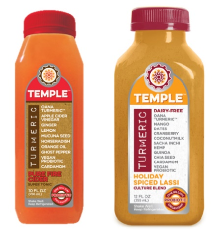 Dairy-Free Holiday Beverages: A Big Round-Up of Vegan Nog, Pumpkin, and Chocolate Mint Drinks (Temple Turmeric Healthy Holiday Spiced Lassi pictured)
