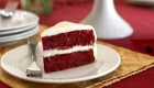 Cranberry Red Velvet Cake with Dairy-Free Cream Cheese Frosting