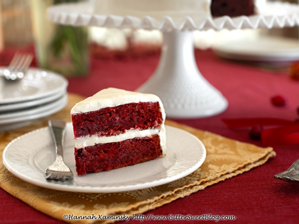 Red velvet cake recipe made with beets
