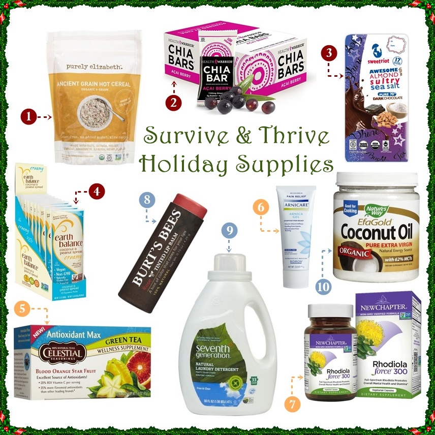 Top 10 Little Health Necessities for Surviving & Thriving this Holiday Season (Dairy-Free & Gluten-Free)