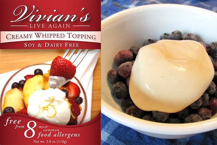Vivian's Live Again Creamy Whipped Topping Mix - Dairy-Free, Soy-Free, and Free of the Top 8 Allergens