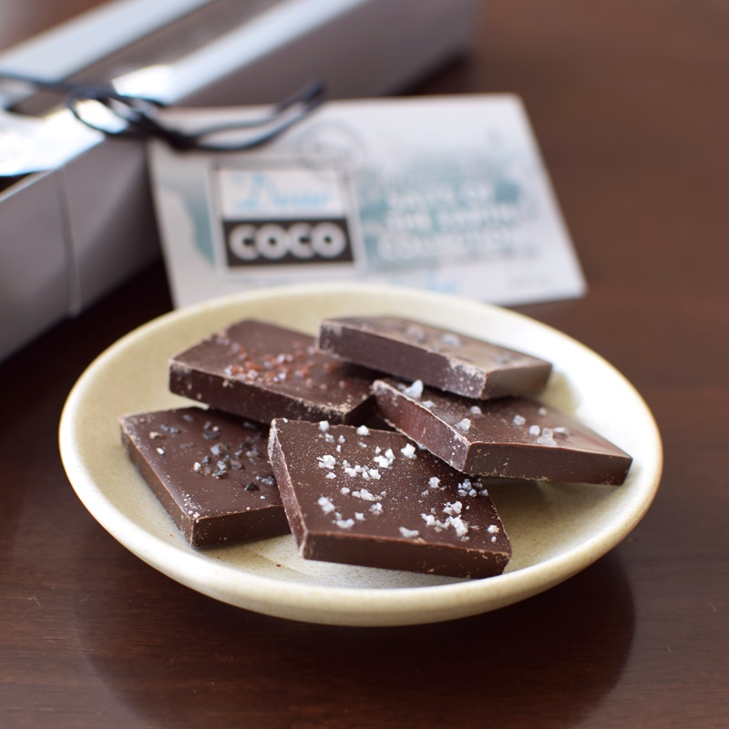 Best Dairy-Free Chocolate Gifts - Dear Coco Salted Chocolate Tiles