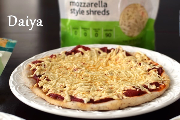 Product Comparison - Dairy-Free Soy-Free Cheese Alternatives for Pizza (Vegan, Allergen-Free Mozzarella from Daiya Pictured)