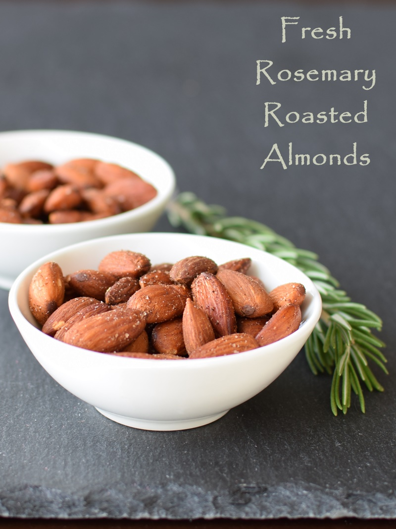 Fresh Rosemary Roasted Almonds Recipe (dairy-free, gluten-free, vegan, and healthy!)