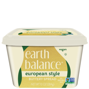 Earth Balance Buttery Spreads - All dairy-free and vegan, soy-free options (Reviews & Information). Pictured: European Style