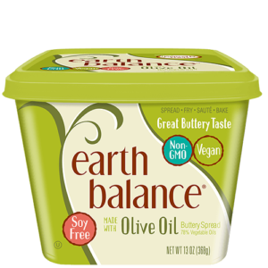 Earth Balance Buttery Spreads - All dairy-free and vegan, soy-free options (Reviews & Information). Pictured: Olive Oil