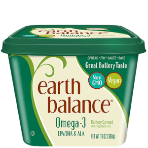Earth Balance Buttery Spreads - All dairy-free and vegan, soy-free options (Reviews & Information). Pictured: Omega 3