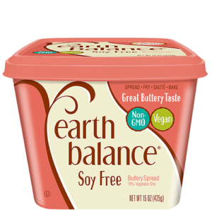 Earth Balance Buttery Spreads - All dairy-free and vegan, soy-free options (Reviews & Information). Pictured: Soy-Free