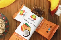 Amrita Energy Bars (Mango Coconut Pictured) - Gluten-Free, Nut-Free, Dairy-Free, and Vegan