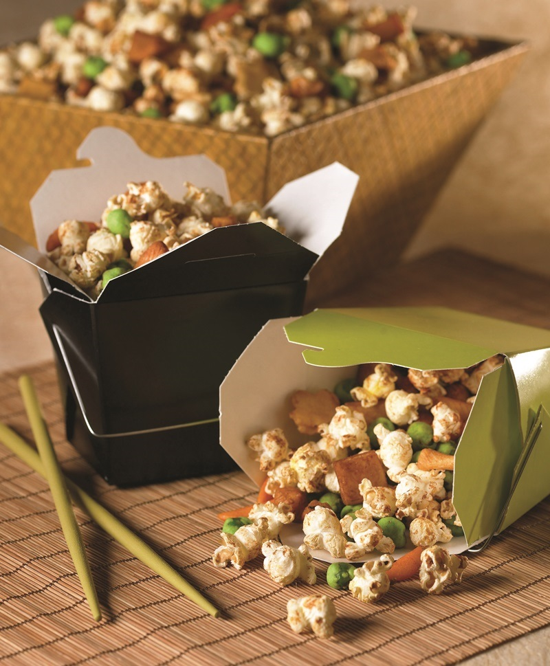 Asian Popcorn Mix - perfect recipe for daily snacking or party munchies!