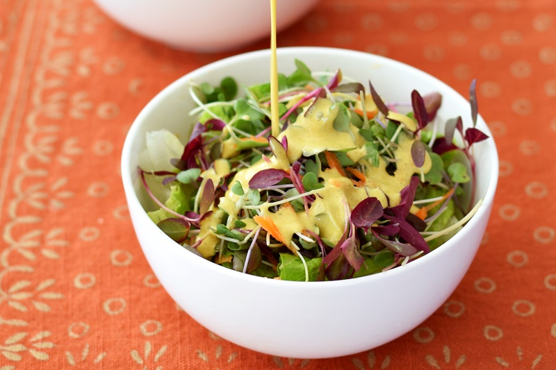 Creamy anti-inflammatory salad dressing or sauce - dairy-free, paleo, vegan and just from scratch