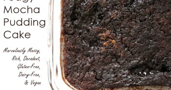 Fudgy Mocha Pudding Cake - Marvelously messy, rich, decadent, gluten-free, dairy-free and vegan!