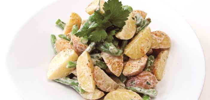 Creamy Potato Salad with Green Beans and Yogurt Dressing