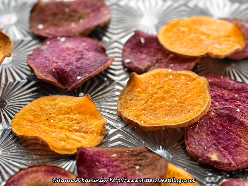 This simple, nutritious 2-in-1 recipe for baked sweet potato chips includes a delicious fruit-sweetened dip. Vegan, gluten-free, dairy-free, paleo optional.