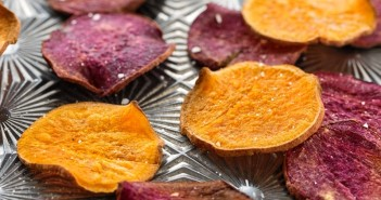 Baked Sweet Potato Chips with Creamy Date Caramel Dip Recipe - A Dairy-free, Gluten-free, Vegan, Healthy Sweet Snack from the FREE Snackable eBook