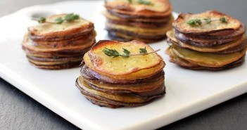 Petite Pommes Anna - Buttery Scalloped Potato Stacks (dairy-free + gluten-free + vegan)