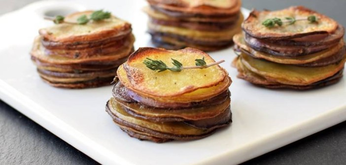 Petite Pommes Anna (Buttery Scalloped Potato Stacks)